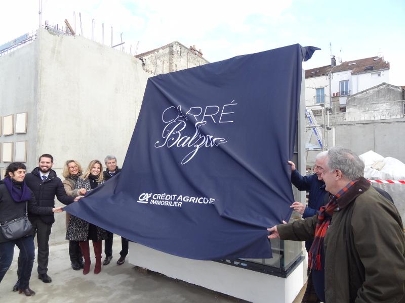 DSC02383Carré Balzac _ Présentation témoin de façade